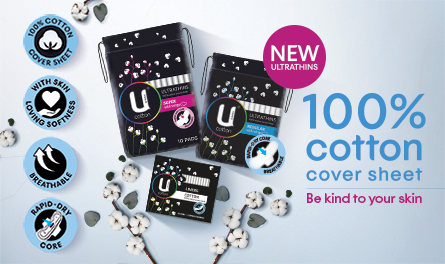 U by Kotex Cottons Range Icons Mobile
